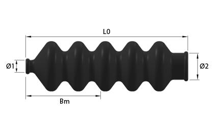 Teknisk ritning - Gummibälg