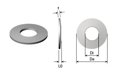 Teknisk ritning - Tallriksfjädrar - Svart stål