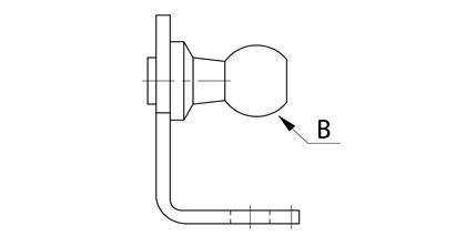 Teknisk ritning - Beslag med kula