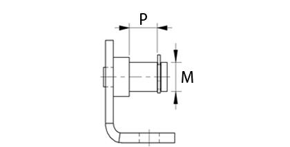 Teknisk ritning - Beslag med dorn