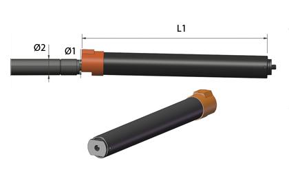 Teknisk ritning - Säkerhetsrör - Svart stål