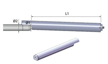 Teknisk ritning - Säkerhetsrör - Rostfri