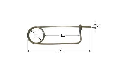 Teknisk ritning - Låssprintar - Galvaniserade