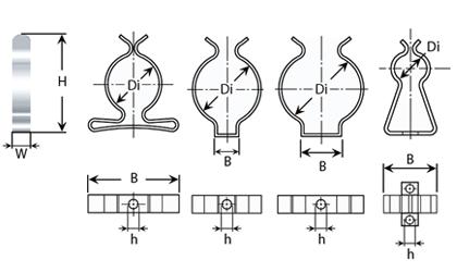 Teknisk ritning - Verktygsclips