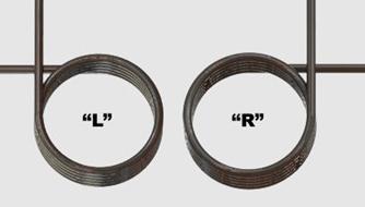 Torsion springs - coil direction