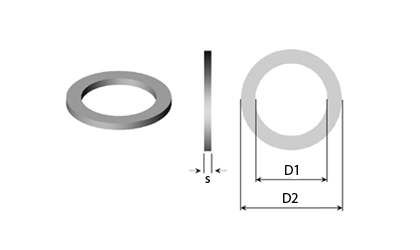 Teknisk ritning - Stödbrickor & Passbrickor
