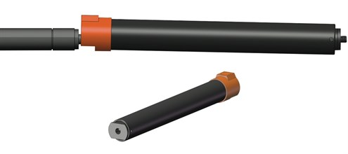Locking tube with gas spring