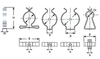 Technical drawing - Tool clips